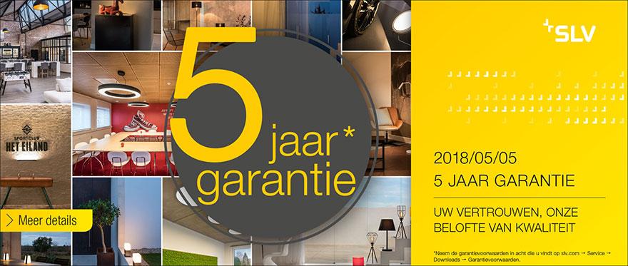 SLV Nederland introduceert 5 jaar garantie