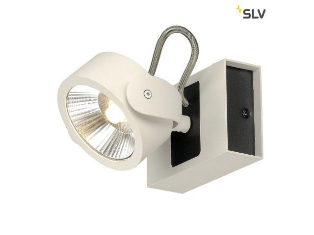 SLV KALU LED 1 zwart/wit 1xLED 3000K 24°