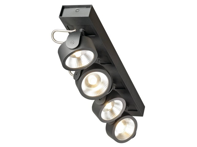 SLV KALU LED 4 zwart 4xLED 3000K 60°