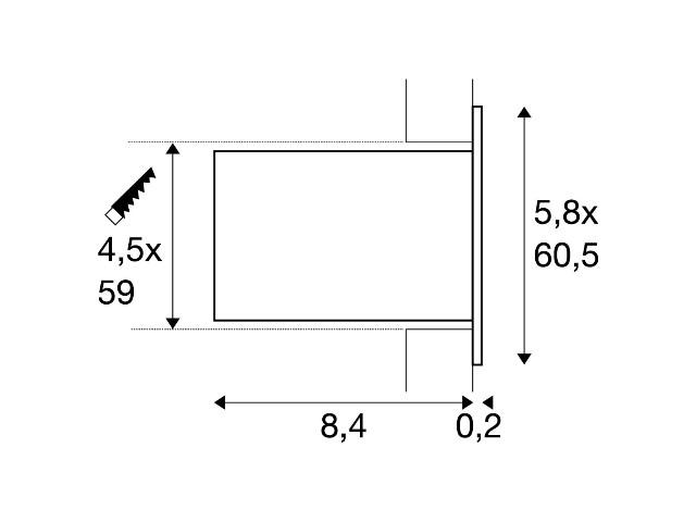 SLV ANINDA LED SHORT zwart 1xLED 3000K