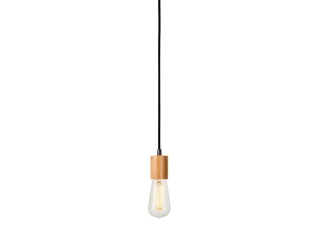 SLV FITU E27 bamboe licht 1xE27, incl. 5m kabel