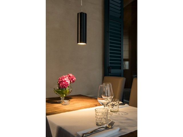 SLV ANELA LED hanglamp zwart 1xLED 3000K