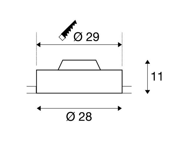 SLV MEDO 30 inbouw frameless wit 1xLED 3000K 1-10V