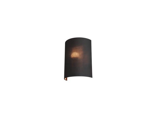 SLV FENDA halfrondelampenkap zwart/koper