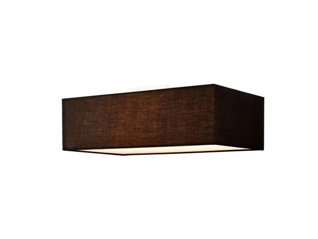 SLV ACCANTO plafondlamp vierkant zwart 1xE27