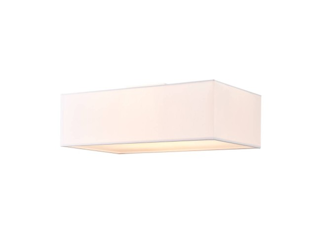 SLV ACCANTO plafondlamp vierkant wit 1xE27