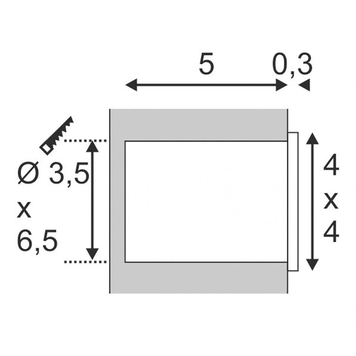 Koop Online Mini Frame Led Zilvergrijs 1xled 3500k 112712 311200