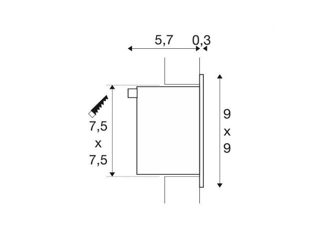 koop online frame basic led wit 1xled 4000k 113260 van slv webshop slv nederland. Black Bedroom Furniture Sets. Home Design Ideas