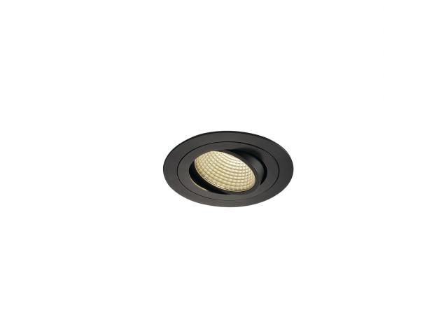 SLV NEW TRIA LED DL ROUND SET, zwart 1xLED 3000K 15W
