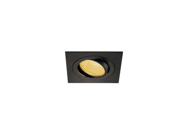 SLV NEW TRIA LED DL SQUARE SET, zwart 1xLED 2700K 15W