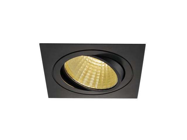 SLV NEW TRIA LED DL SQUARE SET, zwart 1xLED 2700K 25W