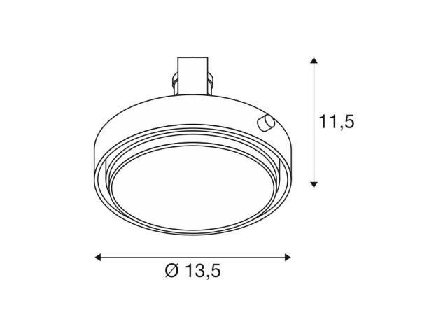 SLV ES111 MODULE Aixlight Pro wit 1xGU10