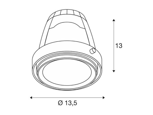 SLV COB LED MODULE Aixlight Pro wit 1xLED 3000K 30°