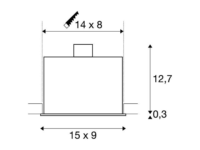 SLV KADUX 2 GU10 alu geborsteld 2xGU10