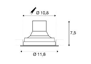 BIG WHITE SUPROS 78 DL wit 1xLED 3000K (116311) Downlights van SLV