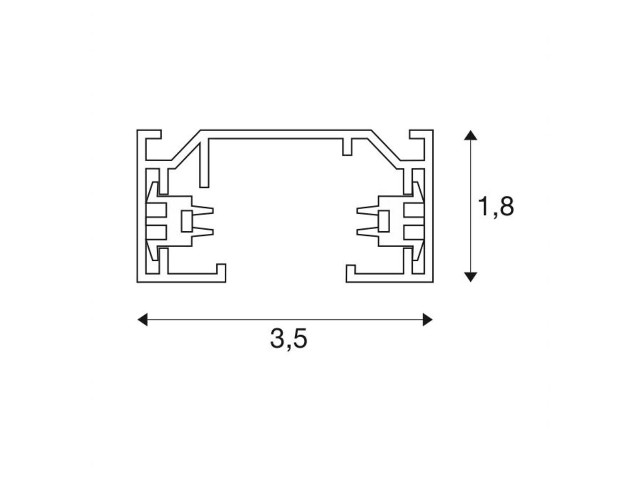 SLV 1-Fase Spanningsrail zilvergrijs 1m