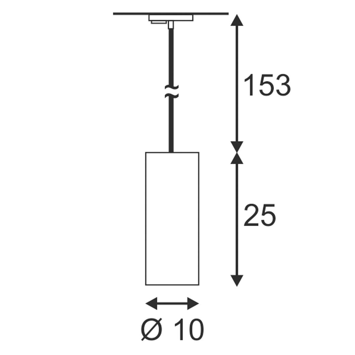 SLV COMMO PD-1 chroom/adapter zwart 1xGX53 1-Fase