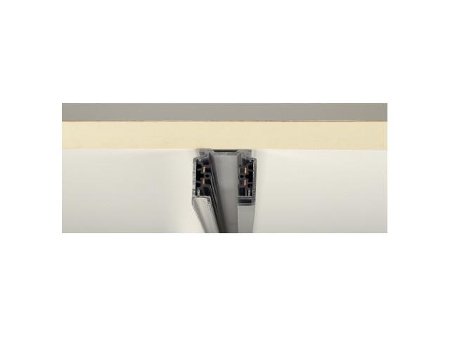SLV 3-Fase Spanningsrail zilvergrijs 1m