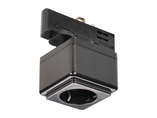 SLV Stopcontact voor 3-fase rail zwart