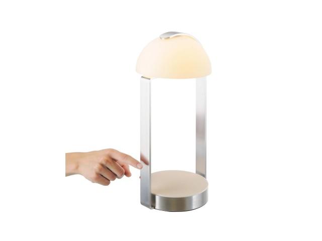 SLV BRENDA tafellamp wit/zilver 1xLED 3000K