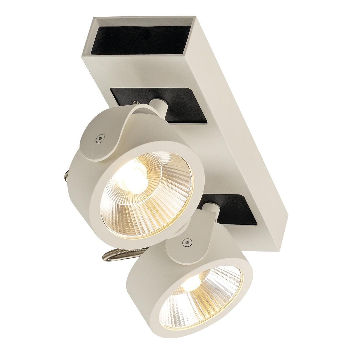 koop online kalu 2 spots wit zwart 2xled 3000k 147611 van slv webshop slv nederland. Black Bedroom Furniture Sets. Home Design Ideas