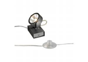 BIG WHITE KALU LED 1 FLOOR zwart mat 1xLED 3000K (147660) Staande lampen van SLV