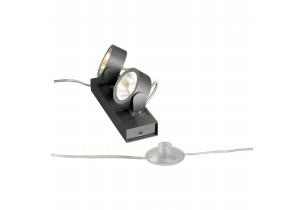 BIG WHITE KALU LED 2 FLOOR zwart mat 2xLED 3000K (147670) Staande lampen van SLV