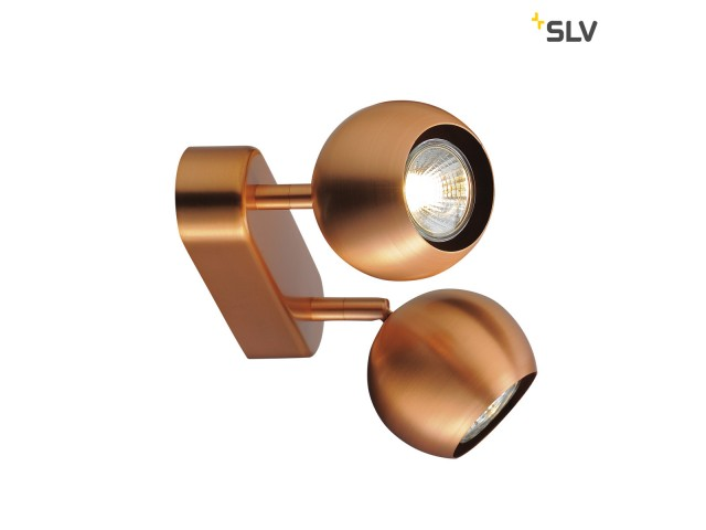 SLV LIGHT EYE 2 GU10 koperkleur GU10 max. 2x50W
