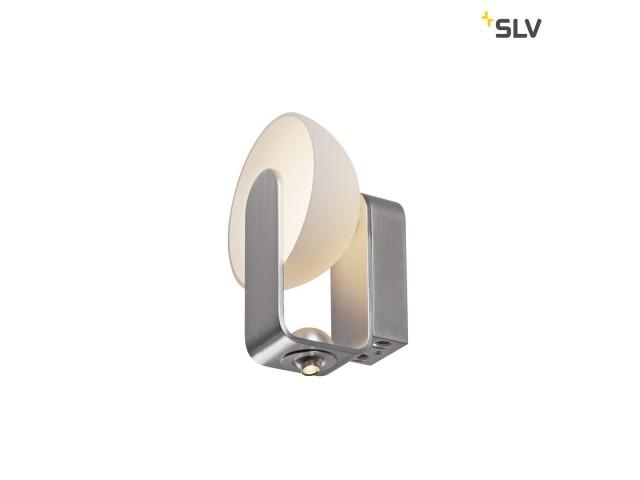 SLV BRENDA wandlamp wit/zilver met ledspot 2xLED 3000K