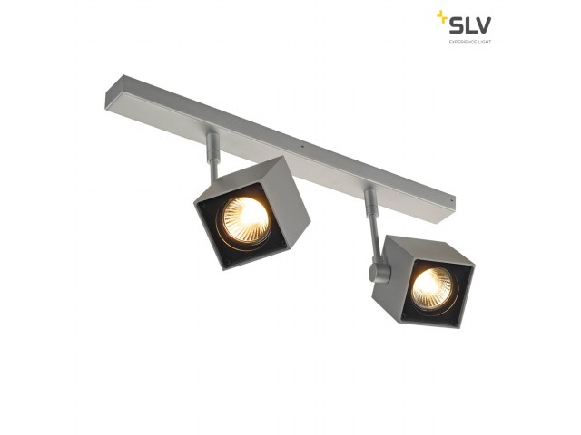 SLV ALTRA DICE 2 zilvergrijs/zwart 2xGU10