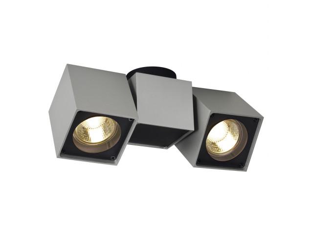 SLV ALTRA DICE SPOT 2 zilvergrijs/zwart 2xGU10
