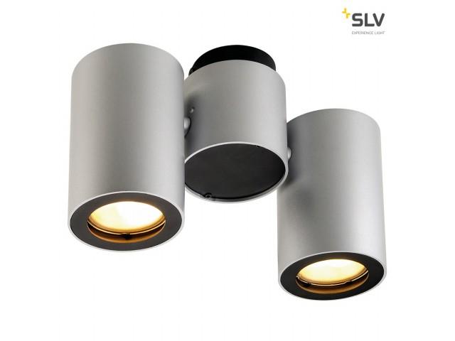 SLV ENOLA_B SPOT 2 zilvergrijs/zwart 2xGU10
