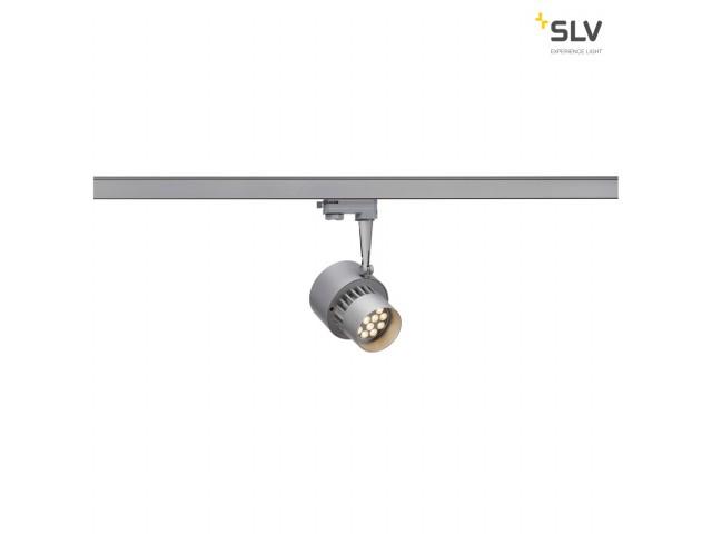 SLV LED TRACKSPOT, zilvergrijs, 12x1W, 3000K, 30°, incl. 3P.-Adapter