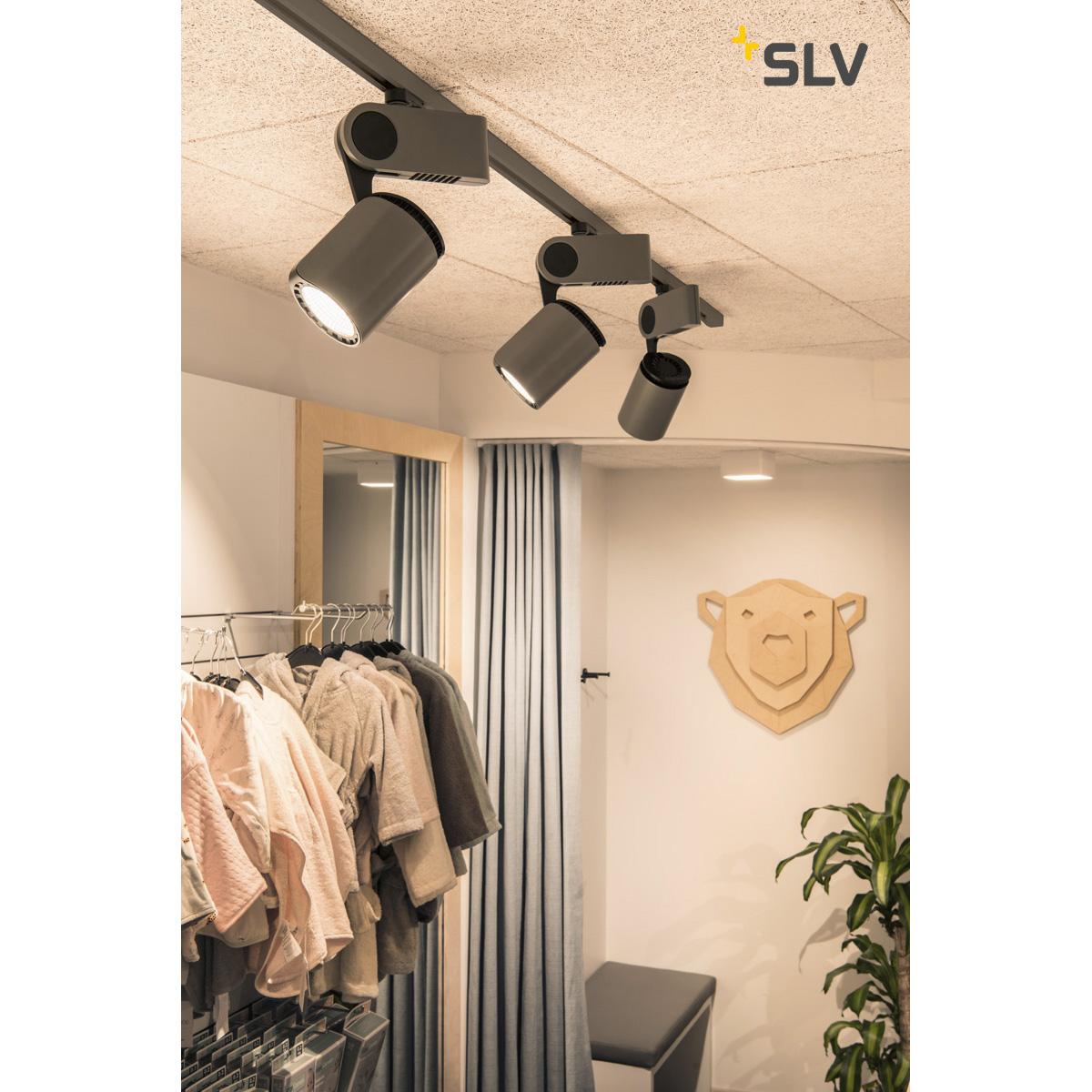 SLV DANCER LED zilvergrijs/zwart 1xLED 3000K, 3-Fase