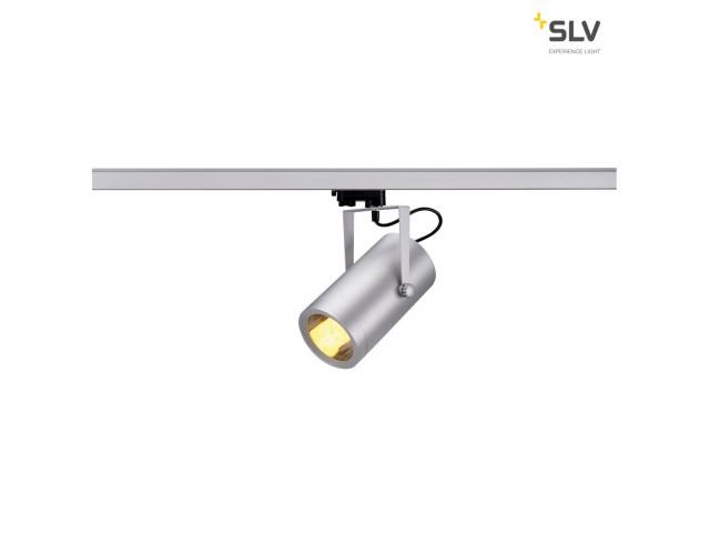 SLV EURO SPOT E27 ELT, zilvergrijs, max. 25W, incl. 3P.-Adapter