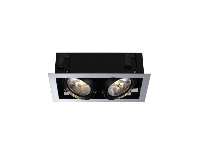 SLV AIXLIGHT FLAT DOUBLE QRB111 chroom/zwart 2xG53