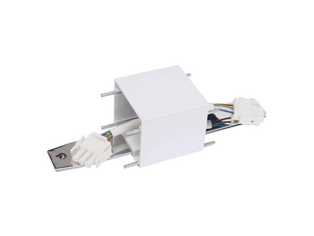 SLV Doorverbinder voor Q-LINE wit/chroom