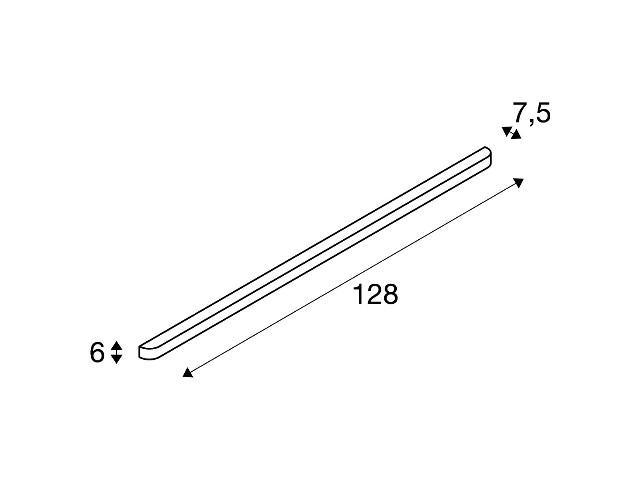 SLV ARLINA T5 28 alu geborsteld/glas gesatin. 1xG5