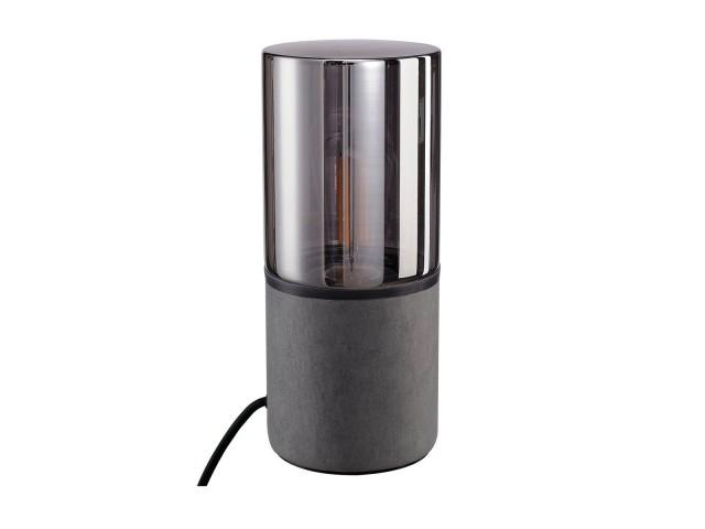 SLV LISENNE tafellamp grijs/rookglas 1xE27
