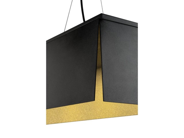 SLV AVENTO 110 pendellamp zwart/goud 1xLED 3000K
