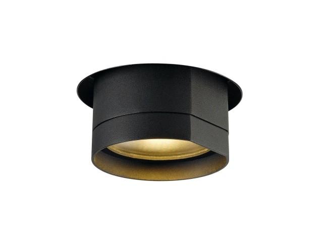 SLV BILAS Inbouw zwart mat, 1xLED 2700K 25°