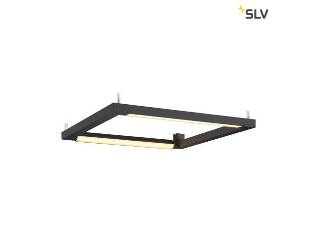 SLV OPEN GRILL LED Double Twist vierkant zwart