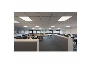 BIG WHITE I-VIDUAL 595x595mm zilvergrijs 1xLED 4000K (158744) LED panelen van SLV