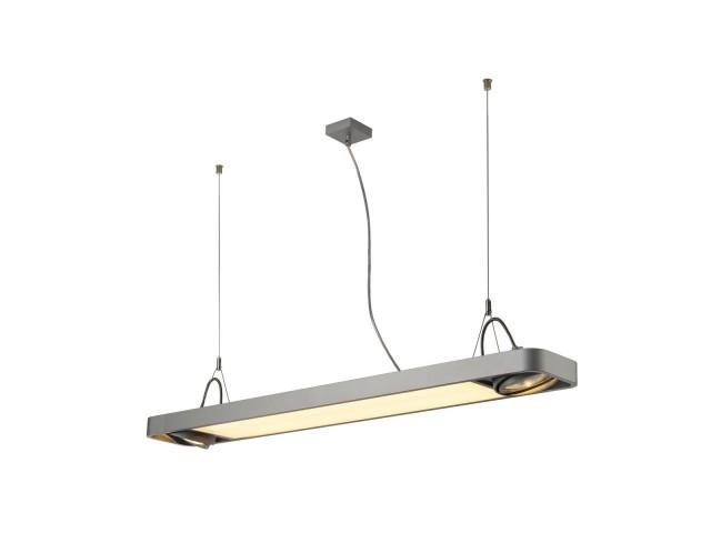 SLV AIXLIGHT R2 OFFICE LED z.grijs LED, 2xES111