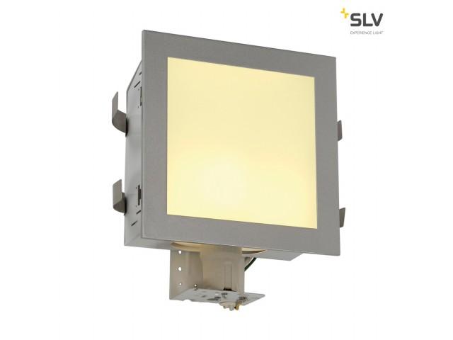 SLV KOTAK WALL wandlamp, vierkant, zilvergrijs, E27, max. 25W