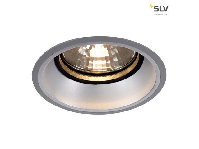 SLV DIVIS G12 Downlight tief, zilvergrijs, max. 150W