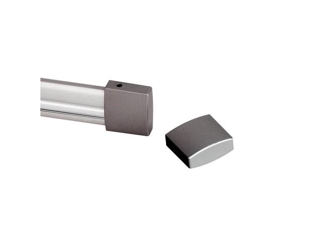 SLV Eindkappen voor EASYTEC 2 zilvergrijs, 2 stks