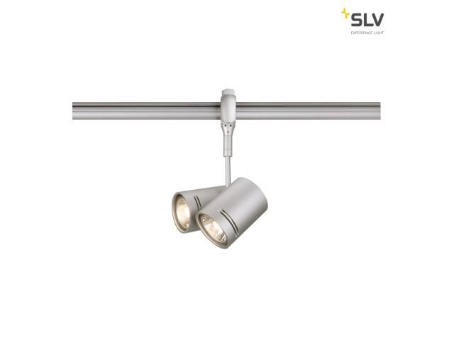 SLV BIMA 2 voor EASYTEC II zilvergrijs 2xGU10