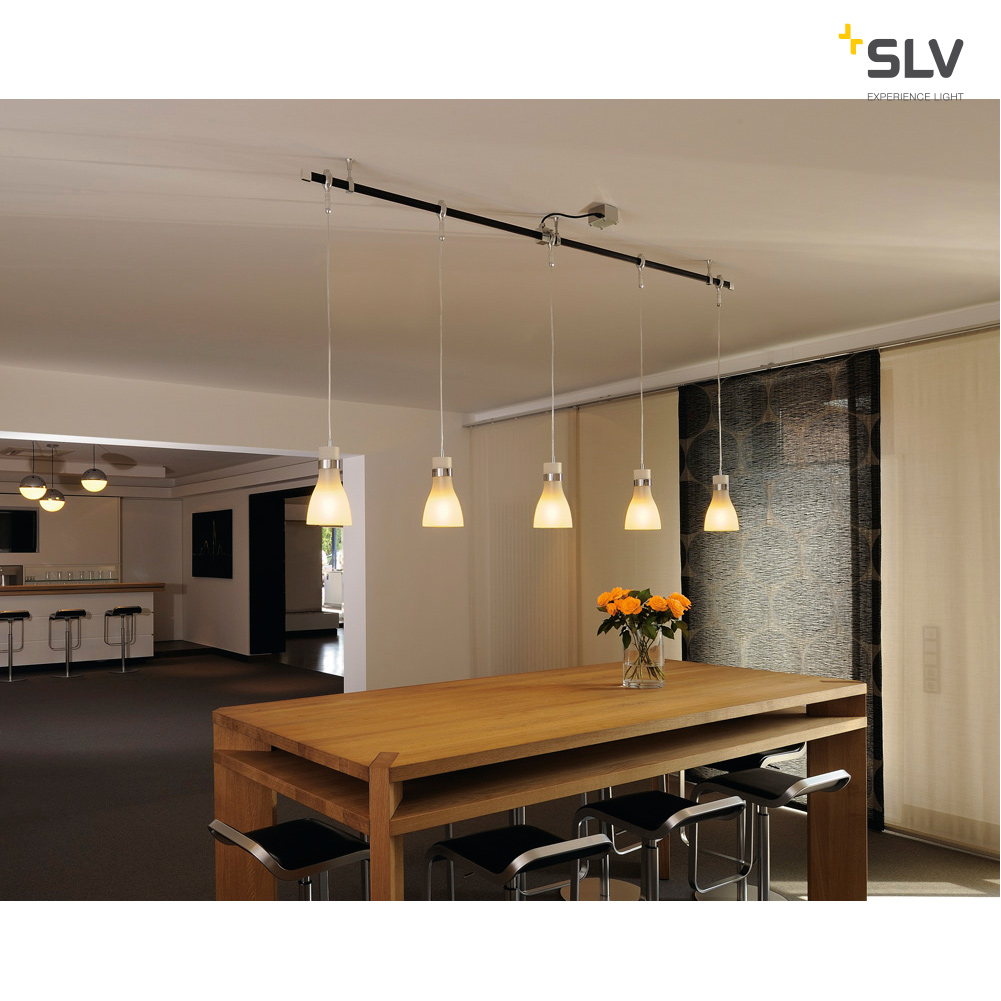 SLV BIBA 3 chroom/glas 1xE14 voor EASYTEC II