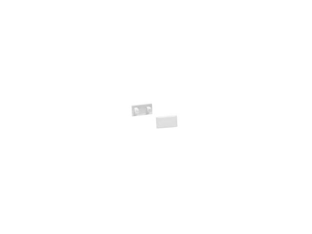 SLV Eindkappen GLENOS Lijnprofiel 1107 wit mat, 2st